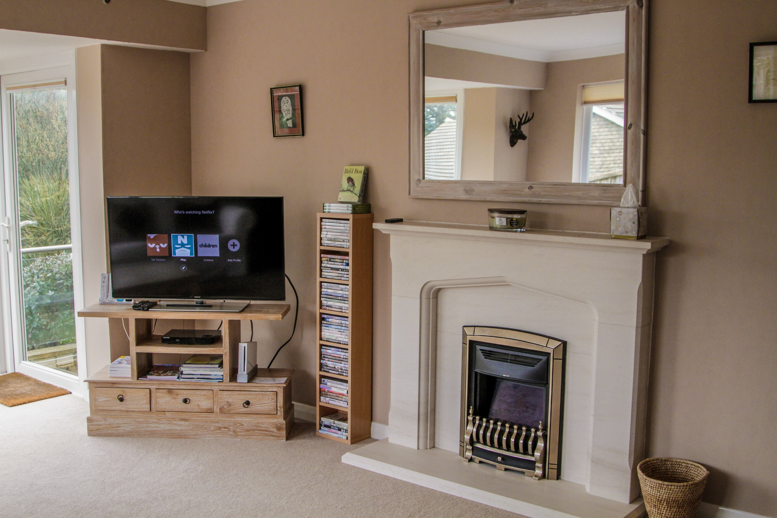 Lounge 'fire' and TV