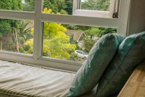 Window seat in Bedroom 1